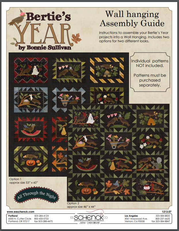 Free Download - Bertie's Year Wall Hanging Assembly Guide