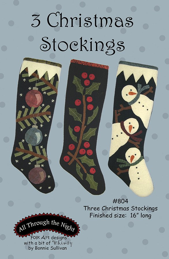 804 - Three Christmas Stockings