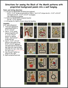 Free Download - Preprinted Wall Hanging Assembly Directions