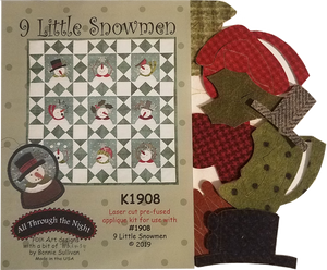K1908 Nine Little Snowmen Applique Kit
