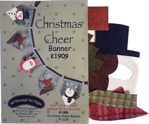 KA1909 - Christmas Cheer Banner Appliqué Kit