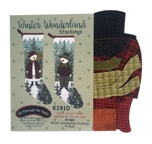 K1910 Winter Wonderland Stockings Applique Kit