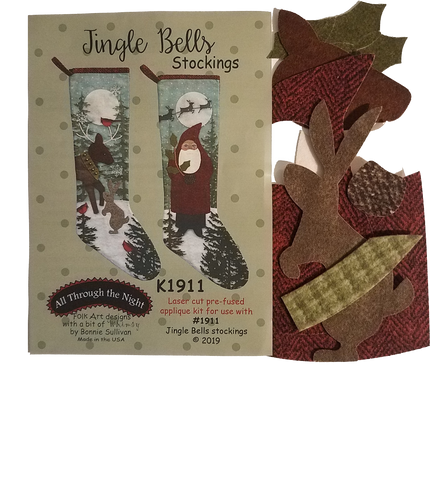 KA1911 Jingle Bells Stockings Applique Kit