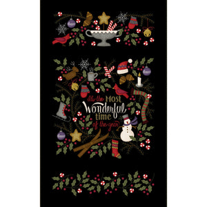MASF9210-J - Most Wonderful Time Flannel Panel