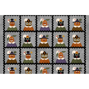 "MASF9400-K - Happy Jacks & Friends Flannel - Jack & Friends Squares (6"" Finished)"