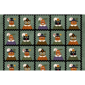 "MASF9400-Q - Happy Jacks & Friends Flannel - Jack & Friends Squares (6"" Finished)"