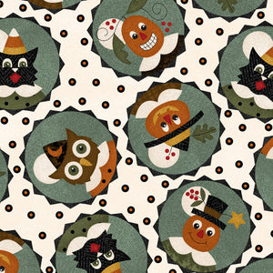 MASF9401-E - Happy Jacks & Friends Flannel Happy Circles