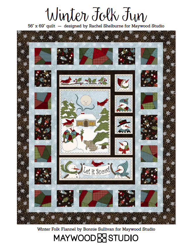 Free Download - Winter Folk Fun designed by Rachel Shelburne using Winter Folk Flannel by Bonnie Sullivan