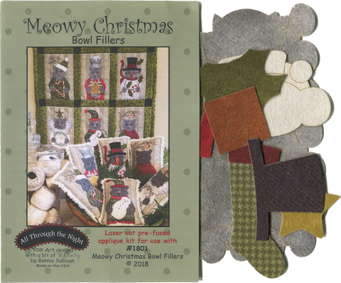 KA1801 - Meowy Christmas Applique Kit