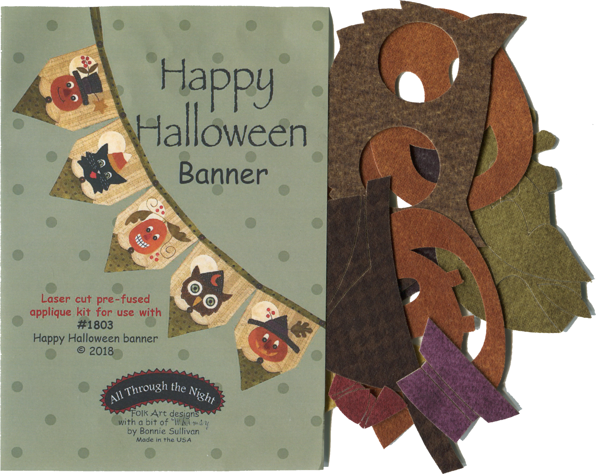 K1803 - Happy Halloween Banner Applique Kit