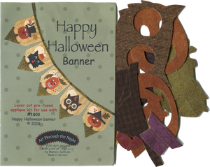 KA1803 - Happy Halloween Banner Applique Kit