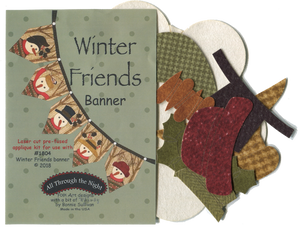 KA1804 - Winter Friends Banner Applique Kit