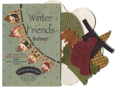 K1804 - Winter Friends Banner Applique Kit