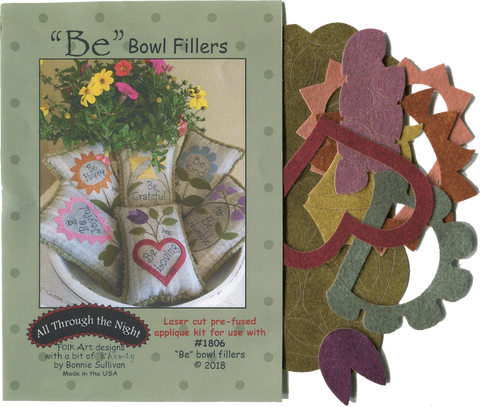 "KA1806 - ""Be"" Bowl Fillers Applique Kit"