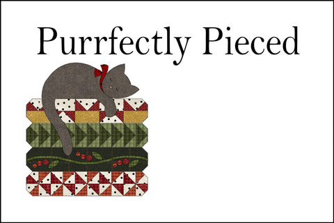 QL1502 - Purrfectly Pieced Quilt Label