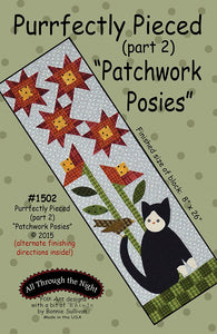 "1502 - Purrfectly Pieced ""Patchwork Posies"" (part 2)"
