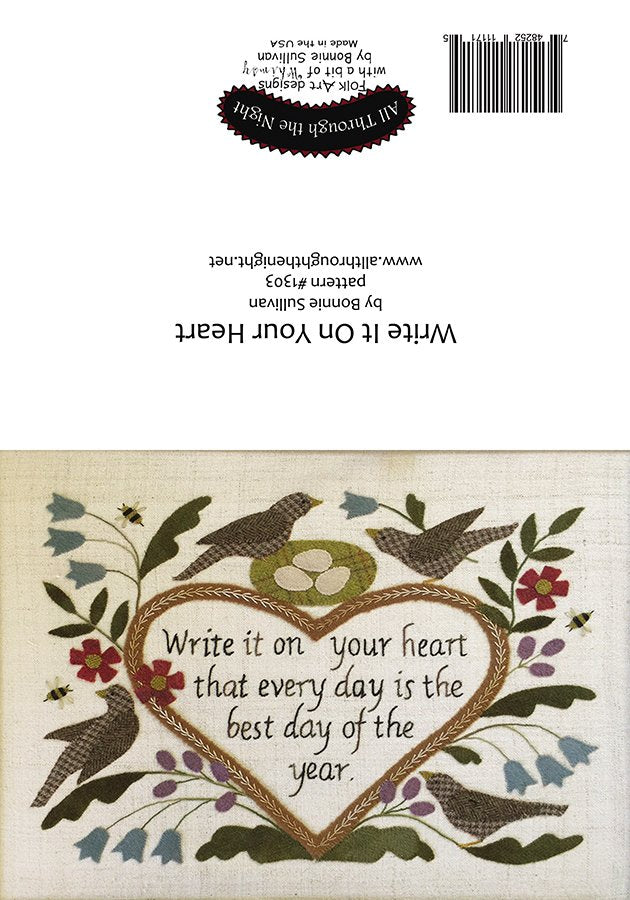 GC1559 - Write it on Your Heart Greeting Card