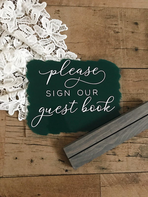 11x9 sign wedding guest book modern wedding decor guest book sign wedding signs acrylic guest book sign please sign our guest book