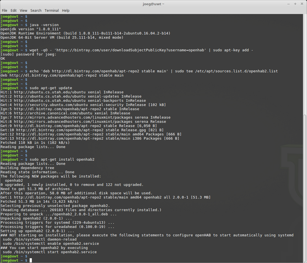openHAB Installation using the Command Line – Engimusing