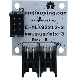 Hall Effect Switch MLX92212 LATCHING w/ EFM Processor & Dual RS232 Interfaces
