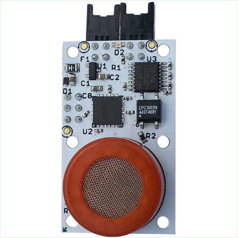 Carbon Monoxide Sensor with EFM Processor and Dual RS232 Interfaces