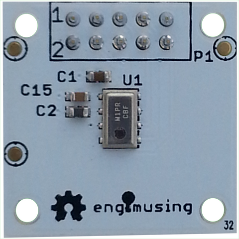 Barometric Pressure Sensor with EFM Processor and Dual RS232 Interfaces