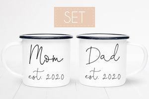Mom and Dad Personalized Coffee Mugs