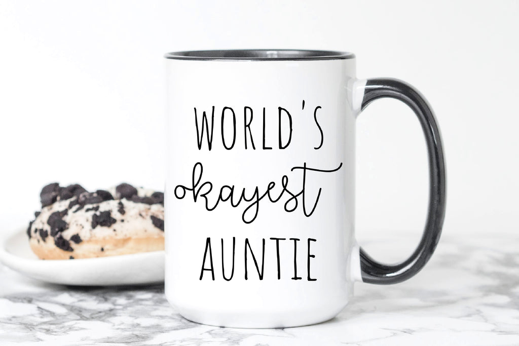 World's Okayest Auntie Mug