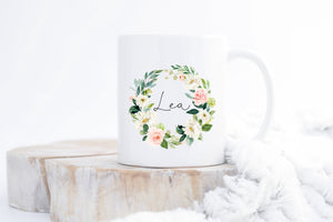 Flower wreath mug