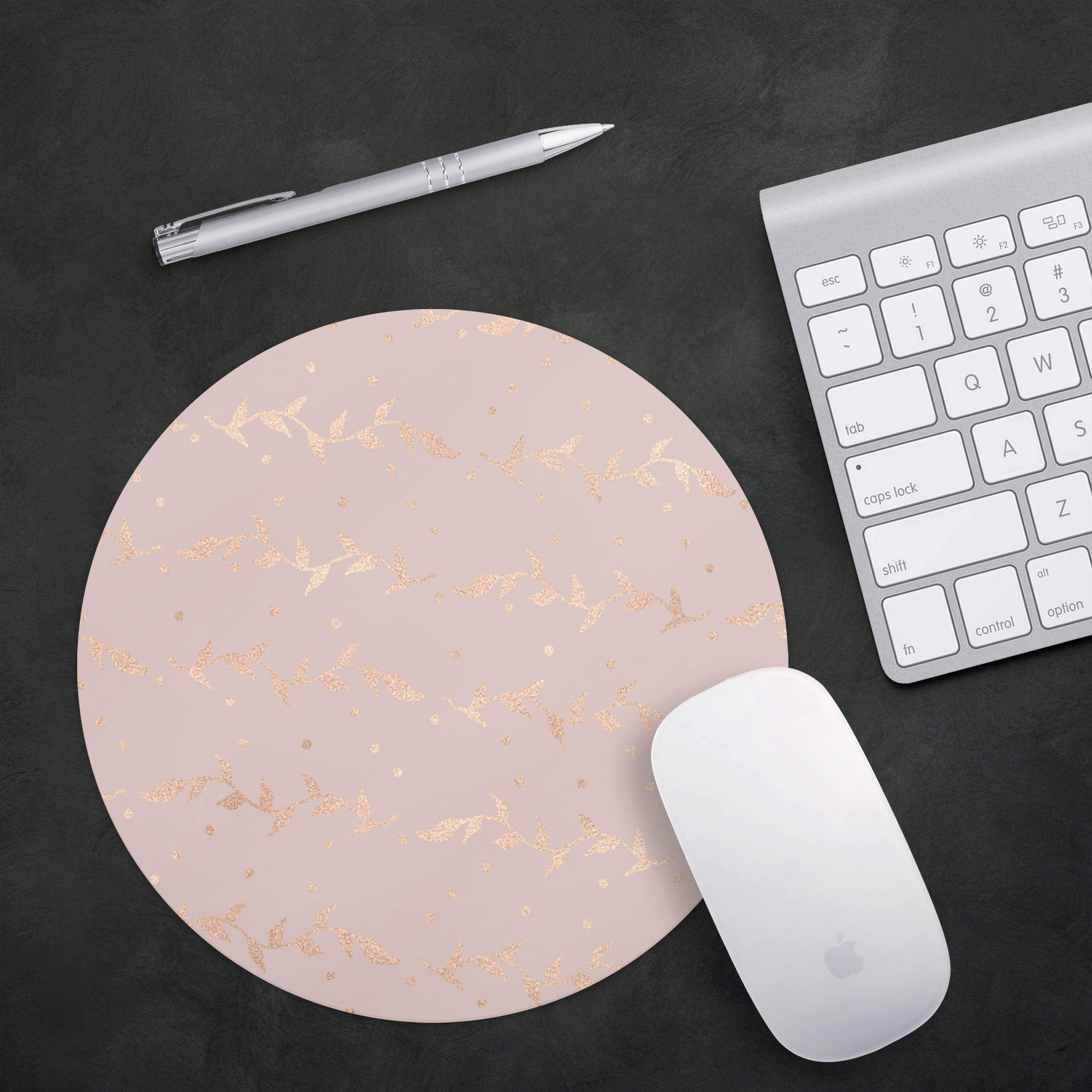 Pink desk mouse pad