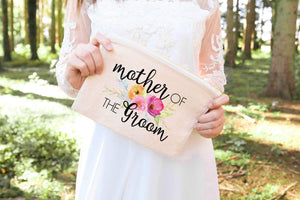Mother of the groom wedding pouch