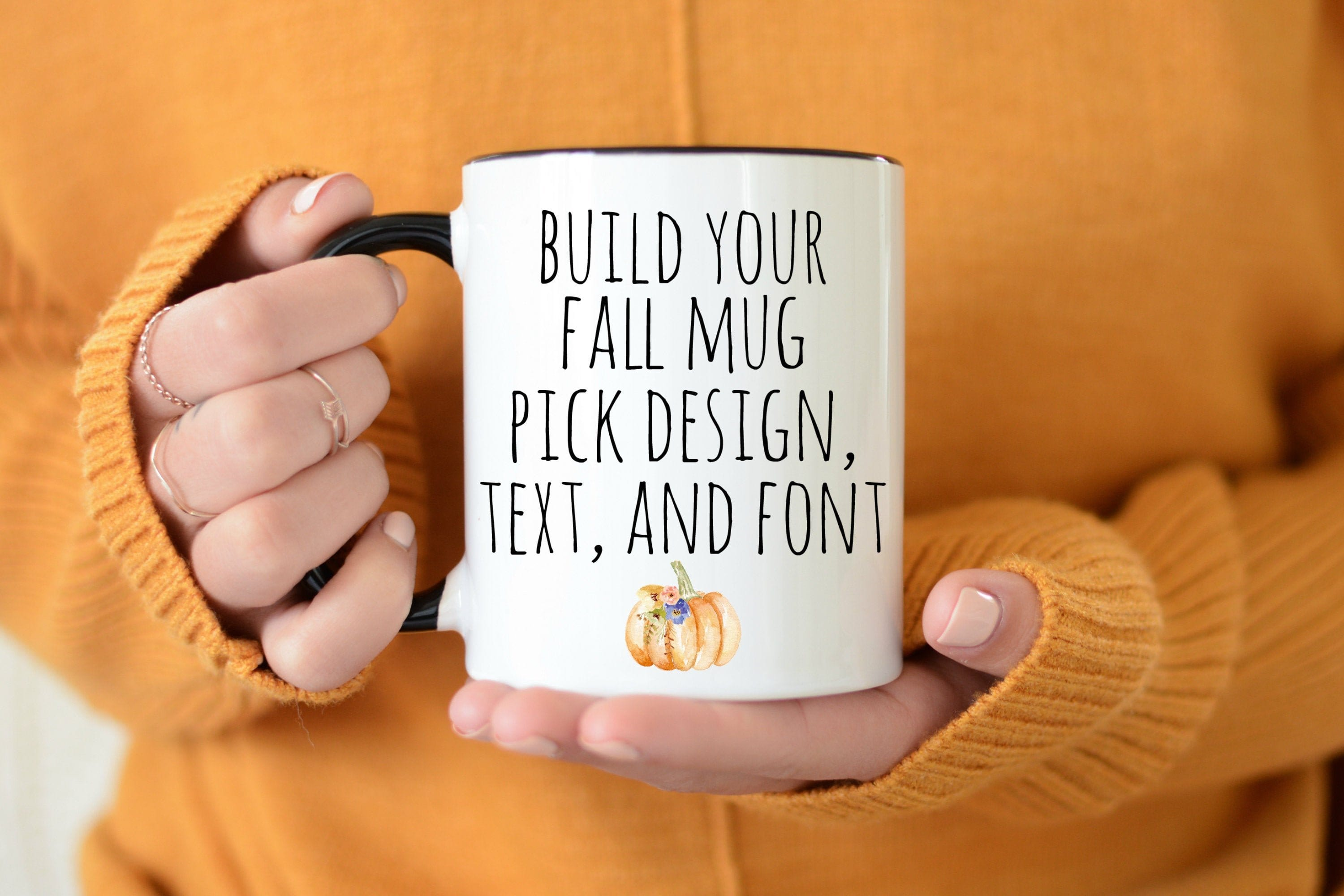 Fall mug personalized