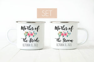 Mother of the bride and groom mug