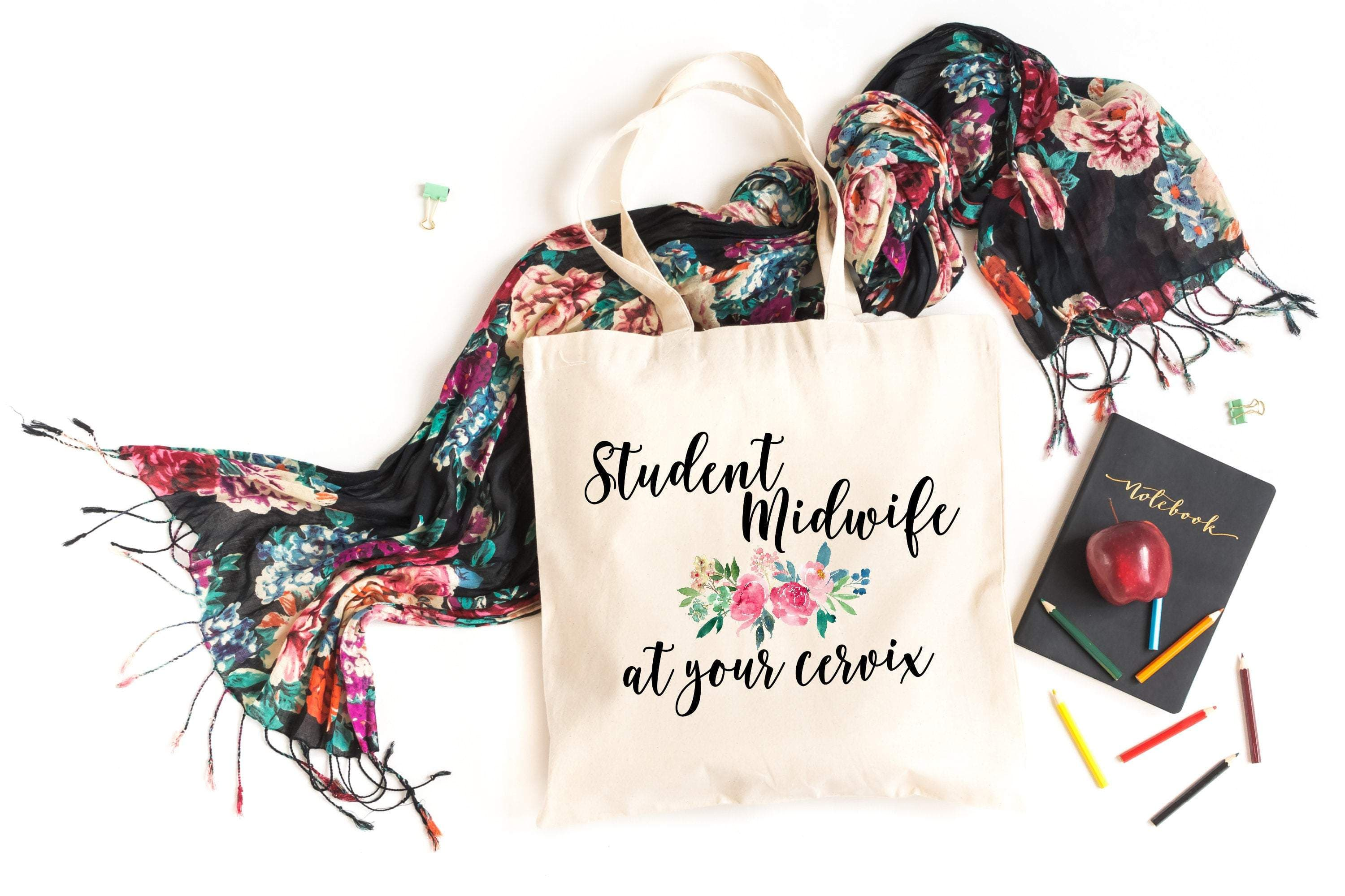 Student midwife at your cervix tote bag