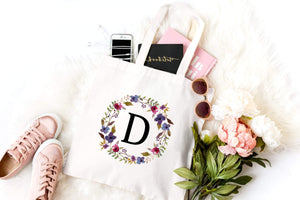 Monogram bridesmaid bag