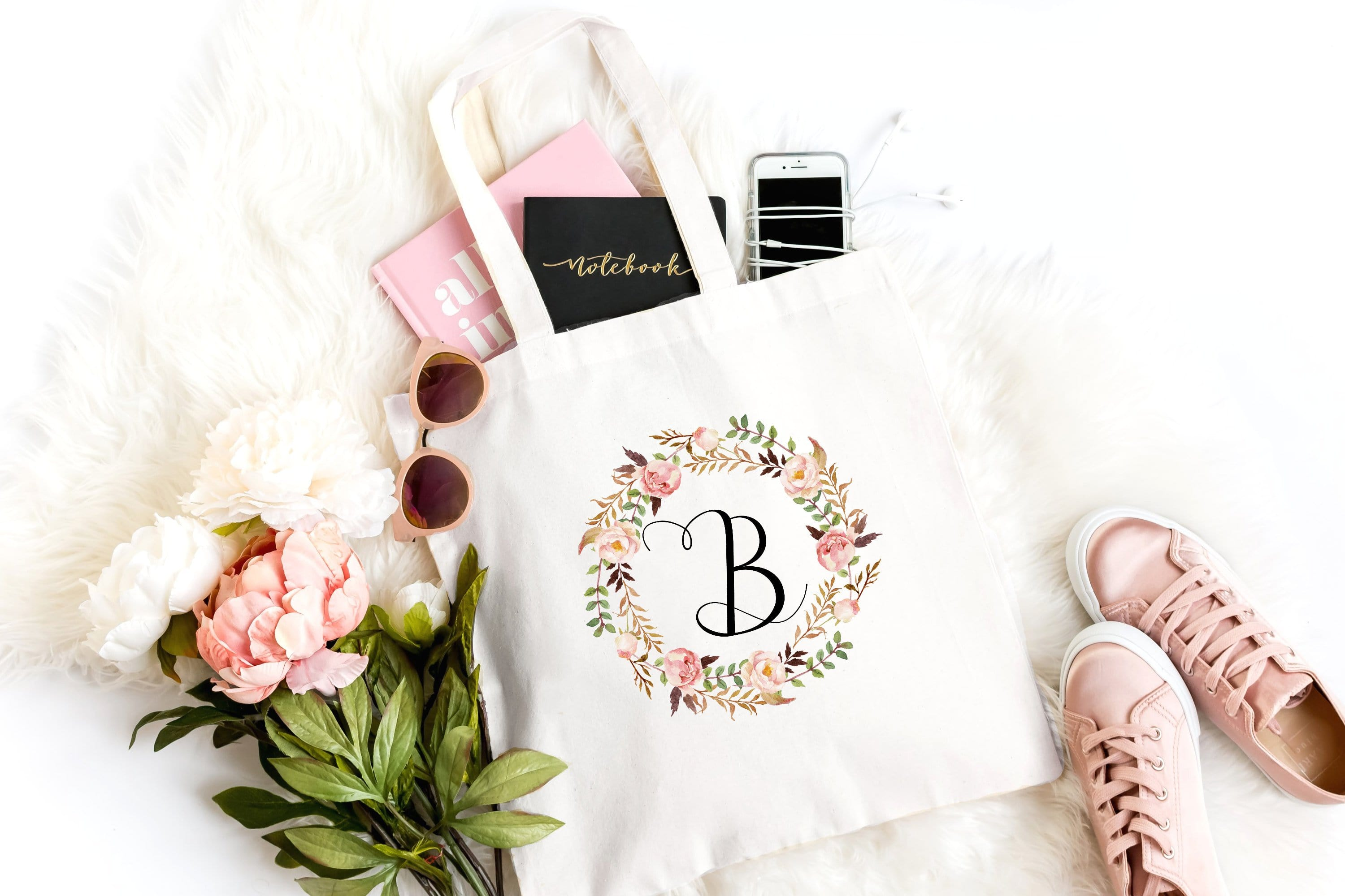 Peach Bridesmaid Tote
