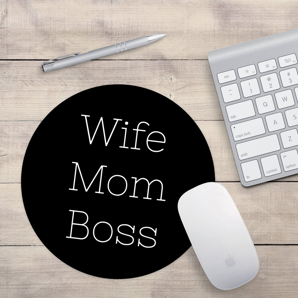 Wife Mom Boss Mouse pad