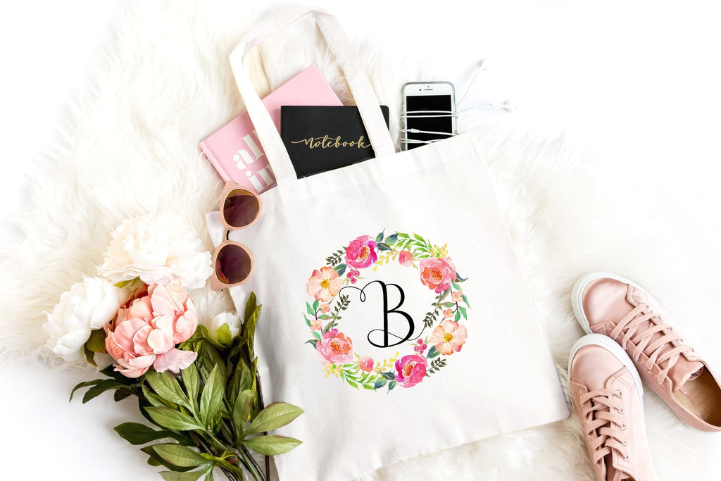 Monogram tote bag for women