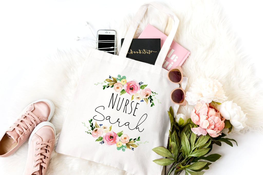 Personalized nurse bags and totes