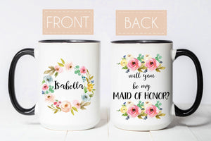 Will you be my maid of honor gift from bride