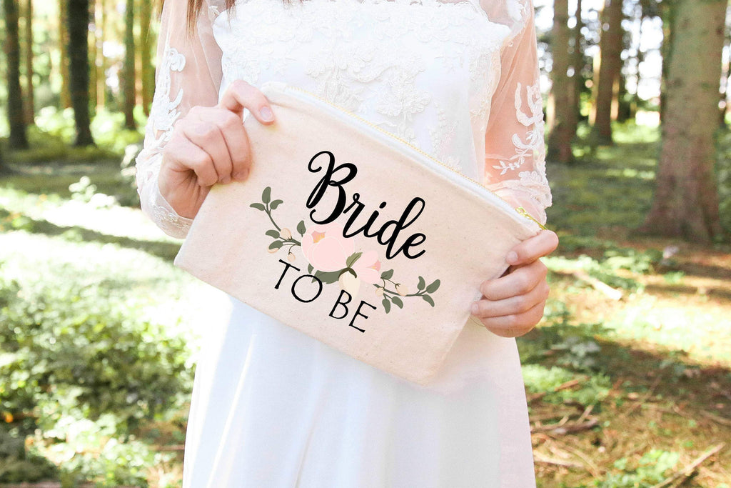 Bride to be makeup bag