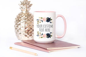 Custom text coffee mug