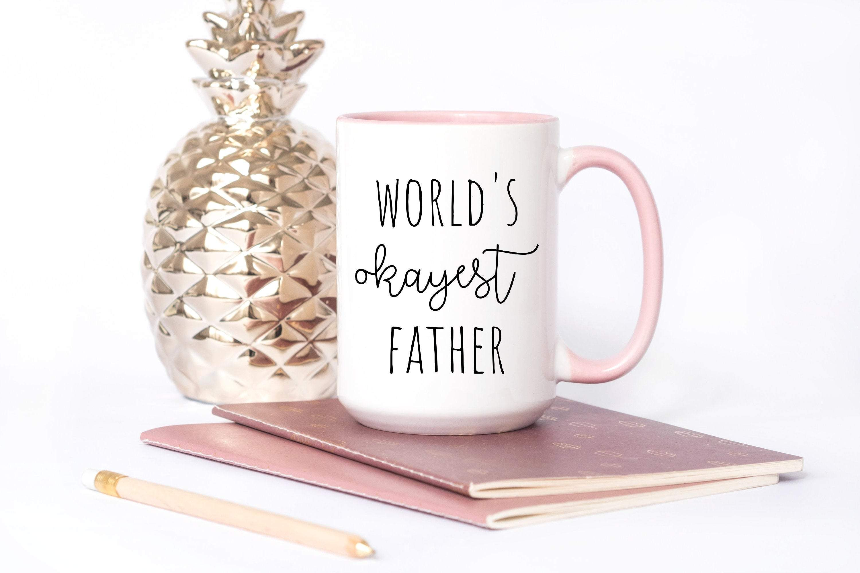 World okayest father coffee mug