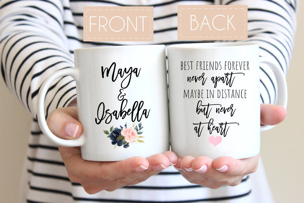 Personalized distance Mug for Best Friend long distance mug