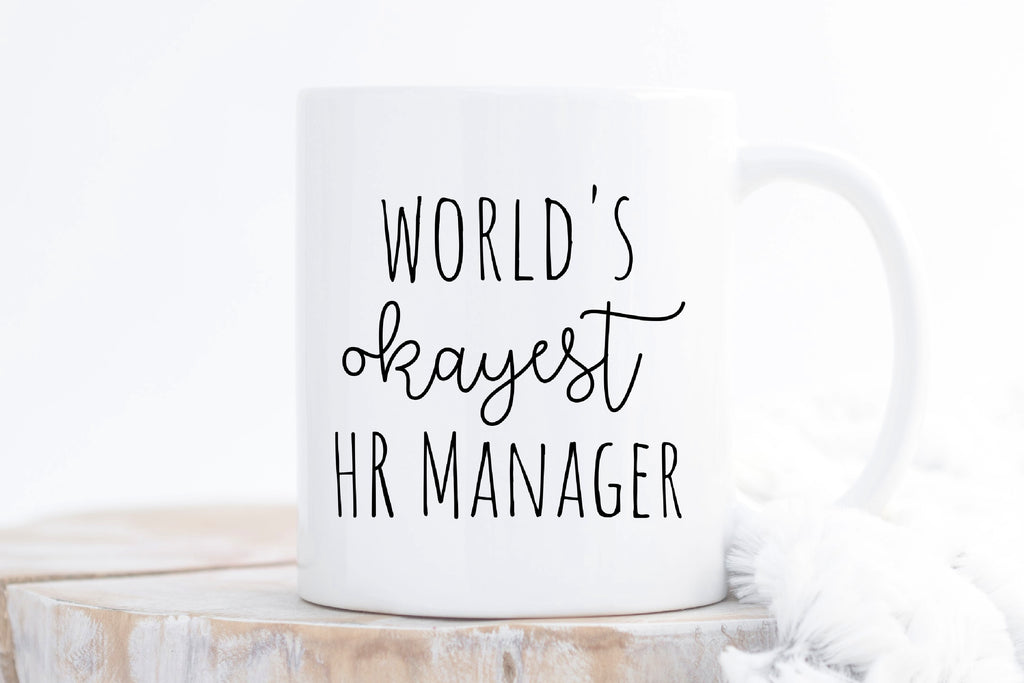 World's Okayest HR Manager Coffee Mug