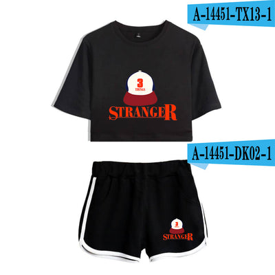 Stranger Things Crop Top and Shorts Stranger