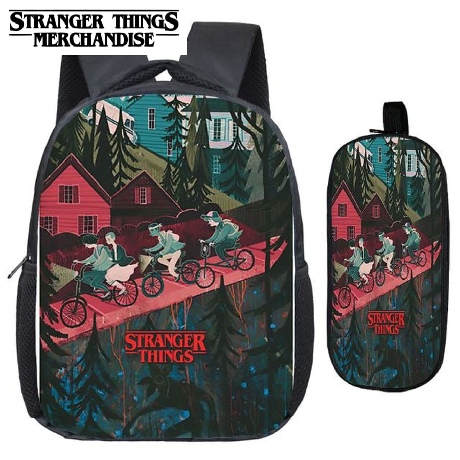 Stranger Things Backpack for School (FREE Pencil Case) <br> Kid High School