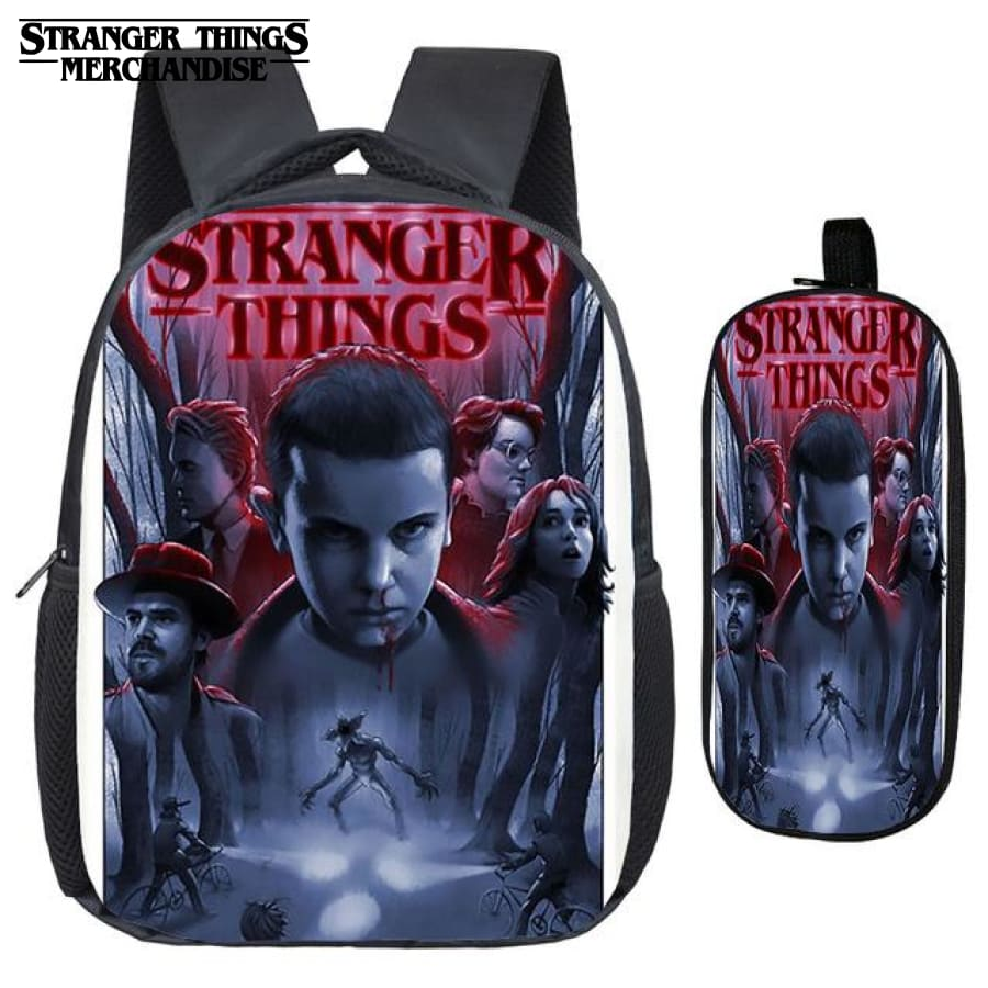 Stranger Things Backpack for School (FREE Pencil Case) <br> From Stranger Things