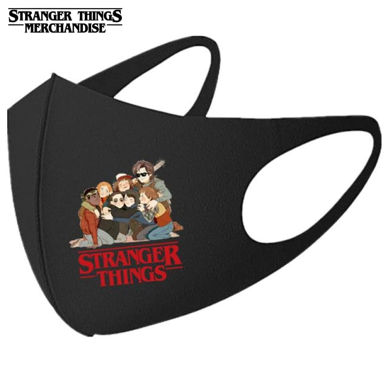 Stranger Things Face Mask <br>Best Friends
