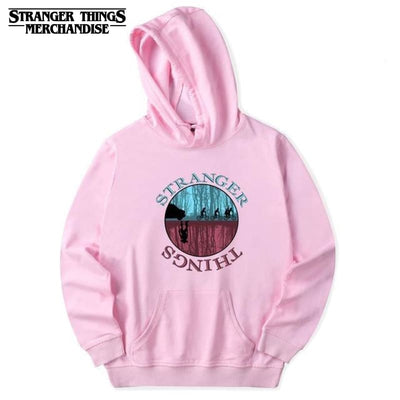 Blue and Red Stranger Things Hoodie